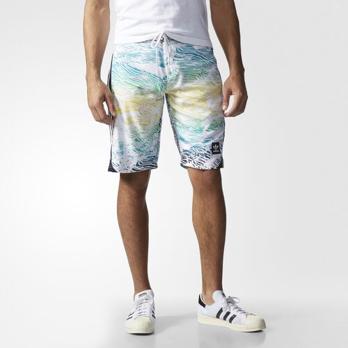 adidas - Hommes Scratch Grade Board Shorts White/Legend Ink/Spring Yellow/Shock Green S93301