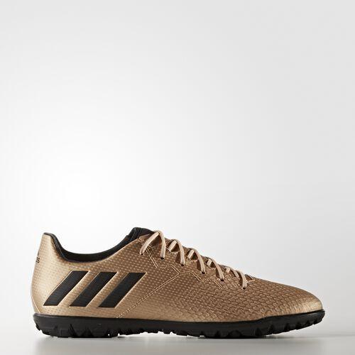 adidas - BOTINES DE FÚTBOL Messi 16.3 CÉSPED ARTIFICIAL Copper Met./Core Black/Solar Green BA9856