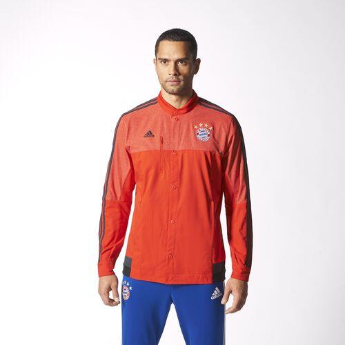 adidas - Hommes FC Bayern Munchen Anthem Jacket Red/Dark Grey/Black M36356