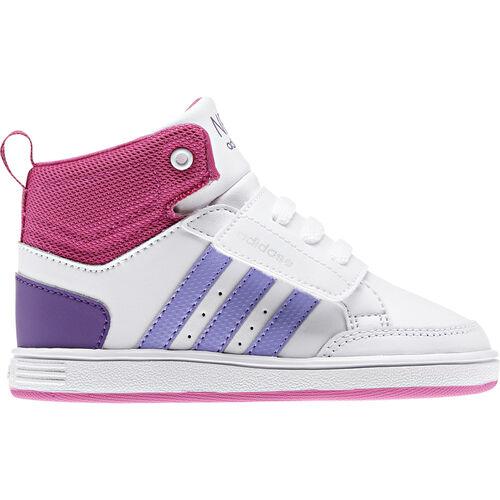adidas - Enfants VLNEO Hoops Mid Shoes Running White / Medium Purple / Bloom Q38615