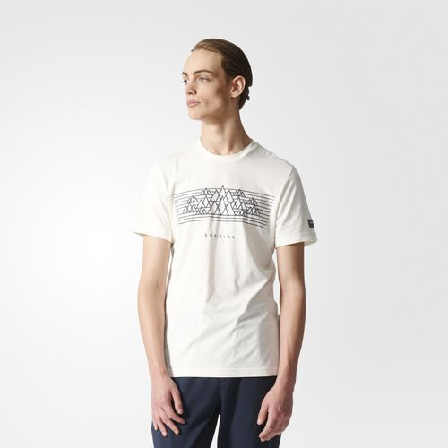 adidas - Men's Graphic Tee Off White/Utility Blue AY0865