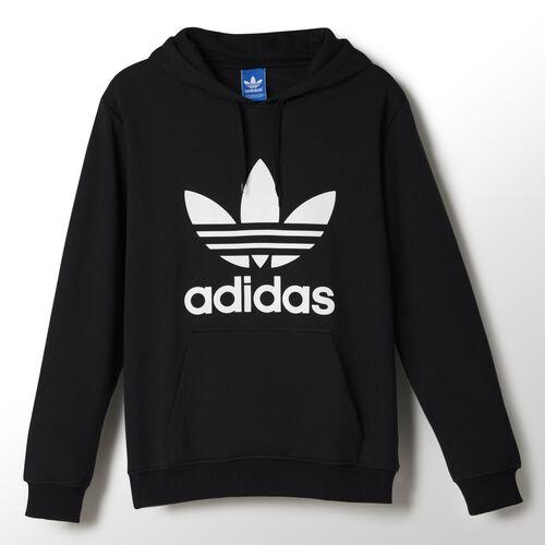 adidas - Hommes Adi Trefoil Hoodie Black / White X41186