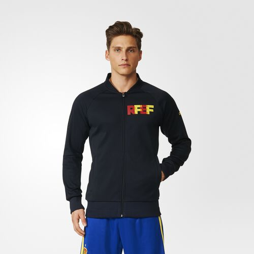 adidas - Men's Spain Anthem Jacket Black/Bright Yellow AI4440