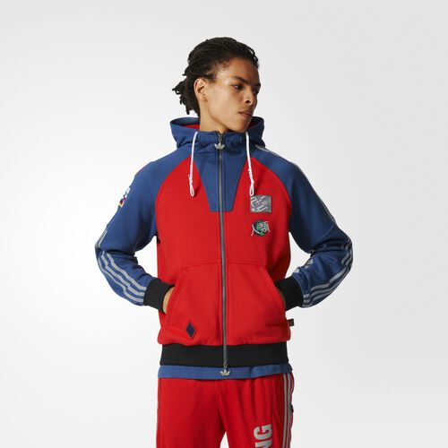 adidas - Hommes Pharrell Williams Hu Race Hoodie Scarlet / Night Marine BK4575