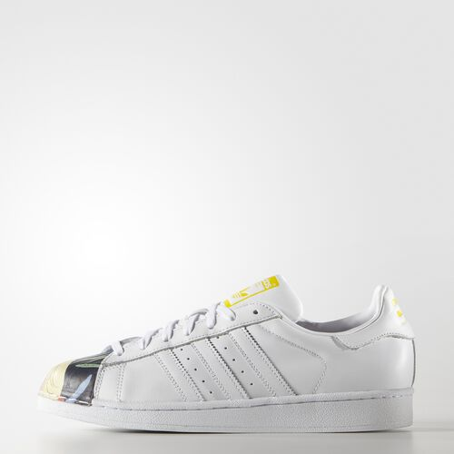 adidas - Hommes Todd James Superstar Supershell Shoes White/White/Yellow S83356