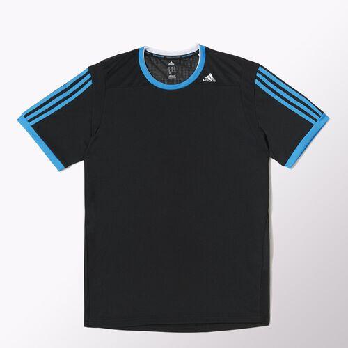 adidas - Hommes Clima Tee Black / Solar Blue / Matte Silver M31154
