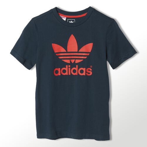 adidas - Youth Trefoil Tee Petrol Ink / Red S14414