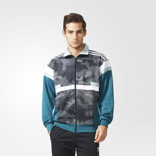 adidas - Men's Brion Snow Camo Track Jacket Emerald AB7812