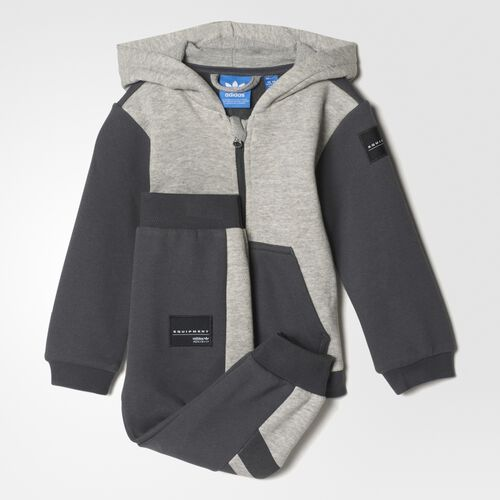 Infants EQT Hooded Flock-Print Track Suit Adidas