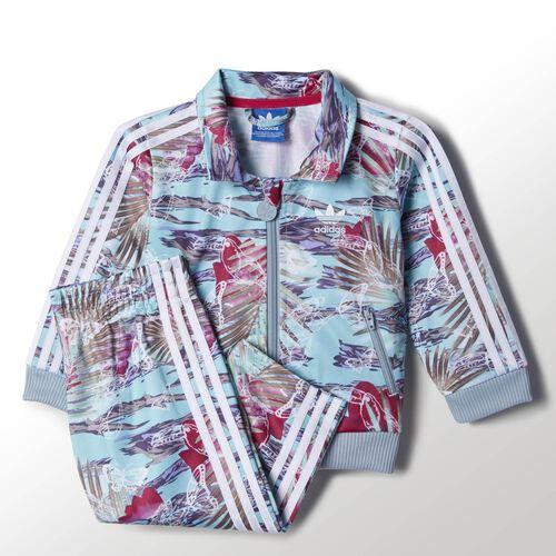 adidas - Infants Flower Firebird Track Suit Multicolor / White S14401