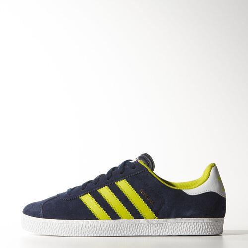 adidas - Youth Gazelle 2.0 Shoes Collegiate Navy / Semi Solar Yellow / Ftwr White M17245