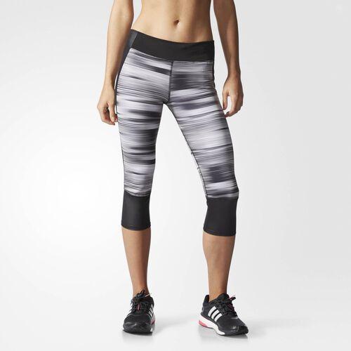 adidas - Women's Supernova Three-Quarter Graphic Tights Black / Matte Silver AC2117