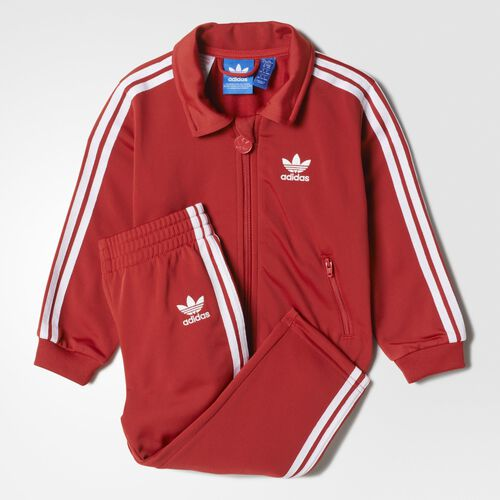 adidas - Bebes Firebird Track Suit Raw Red / White AB1864