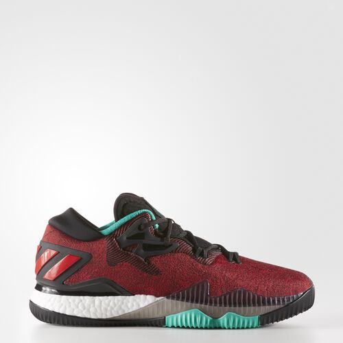 adidas - Hommes Crazylight Boost Low 2016 Shoes Core Black/ White/Shock Mint AQ7761