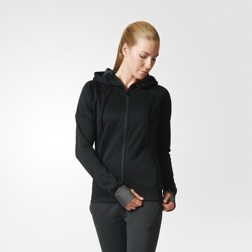 adidas - Women's Daybreaker Reflective Hoodie Black / Dark Grey AB9175