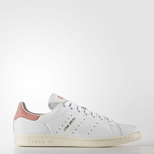 adidas - Hommes Stan Smith Shoes Ftwr White / Ftwr White / Ray Pink F16 S80024