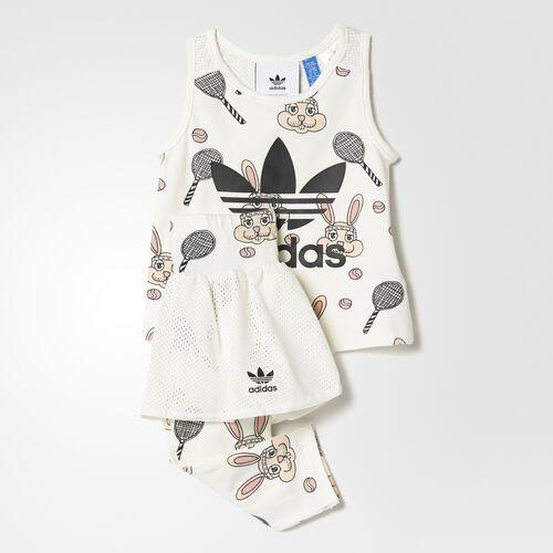 adidas - Mini Rodini Skirt Set Off White  /  Multicolor BK5504