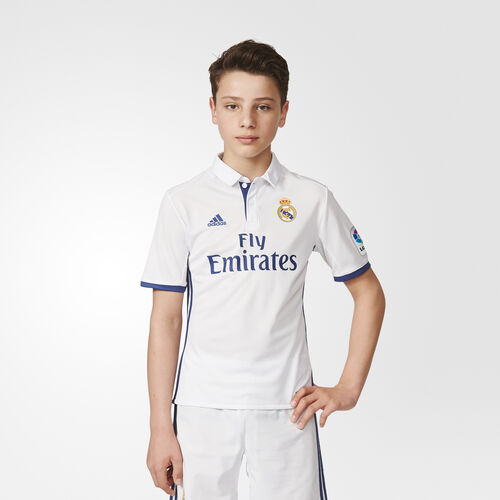 adidas - Youth Real Madrid Home Replica Jersey  Crystal White/Crystal White/ White AI5189