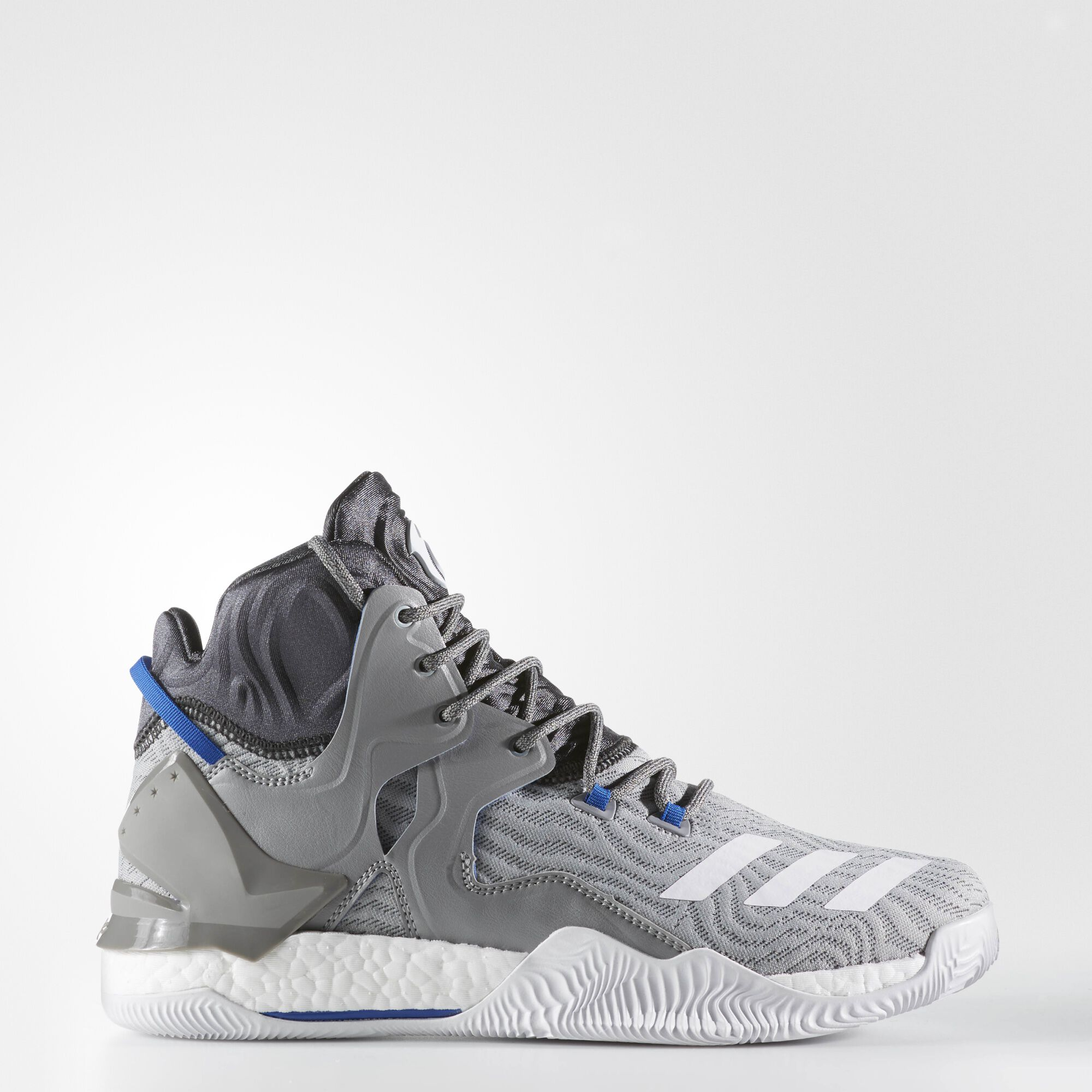 adidas - D Rose 7 Shoes Charcoal Solid Grey / Running White Ftw / Solid Grey
