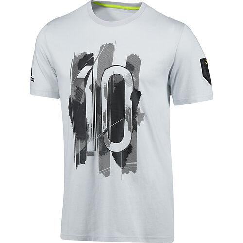 adidas - Hommes Messi Graphic No. 10 Tee Light Grey / Black D87450