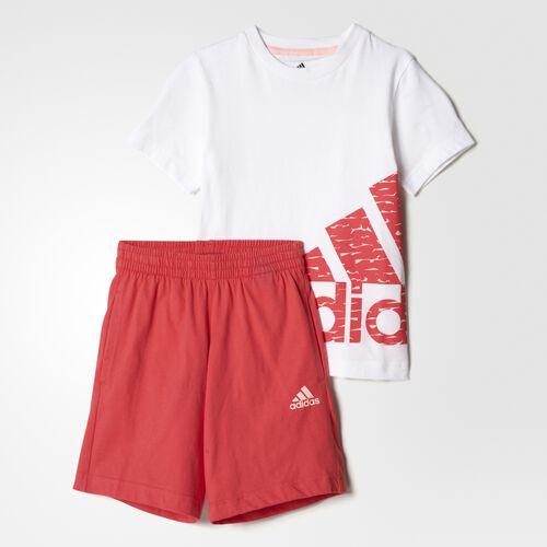 adidas - LK LOGO SUM SET Top:White/Haze Coral  Bottom:Core Pink BP9360