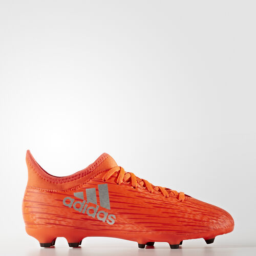 adidas - Kids X 16.3 Firm Ground Boots Solar Red / Silver Met. / Hi-Res Red F13 S79489