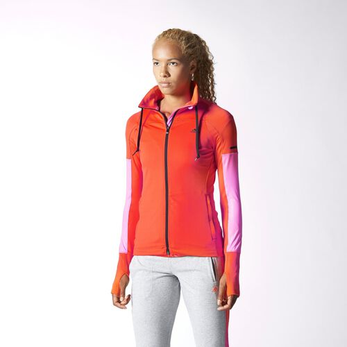 adidas - Women's Studio Power Core Track Jacket Semi Solar Red M67088