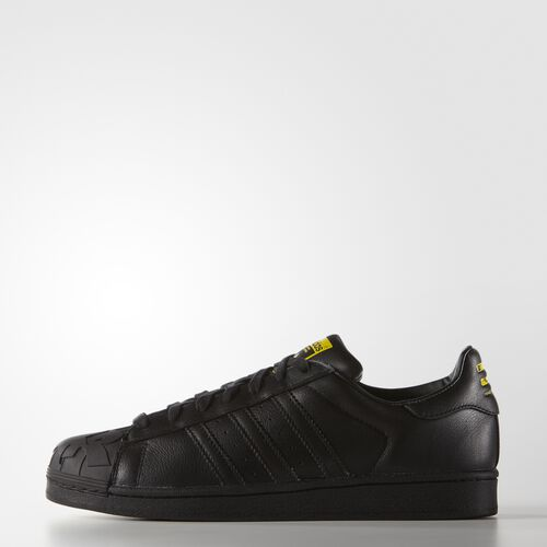 adidas - Men's Todd James Supershell Superstar Shoes Core Black/Core Black/Yellow S83347