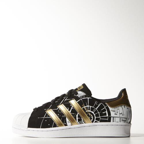 adidas - Youth Superstar Death Star Shoes Core Black / Gold Met. / Ftwr White AF4148