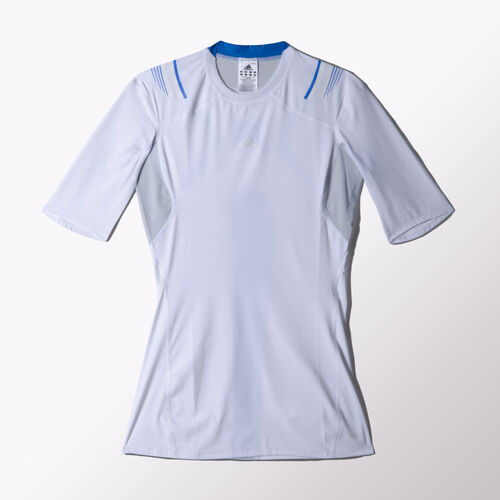 adidas - Hommes Techfit Powerweb Short Sleeve Tee White W40164
