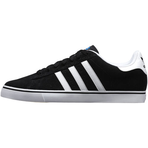 adidas - Men's Campus Vulc Shoes Black / Bluebird / Running White Q33116