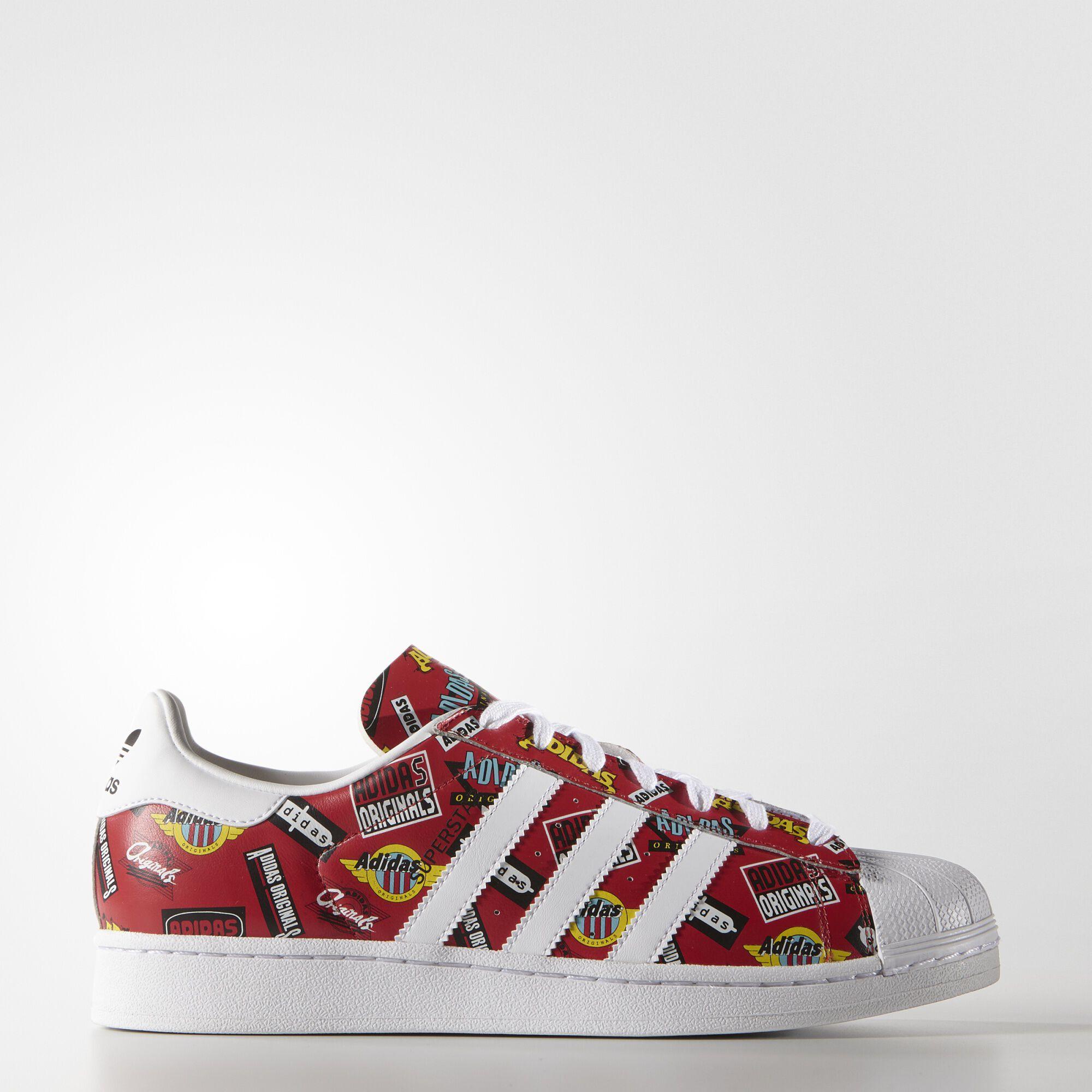 adidas , Zapatillas Originals Superstar Nigo Scarlet/White/Bluebird S83388