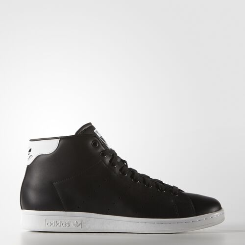 adidas - Hommes Stan Smith Mid Shoes Core Black/White S75027