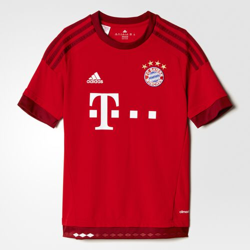 adidas - Youth FC Bayern Home Replica Player Jersey True Red/Craft Red S08605