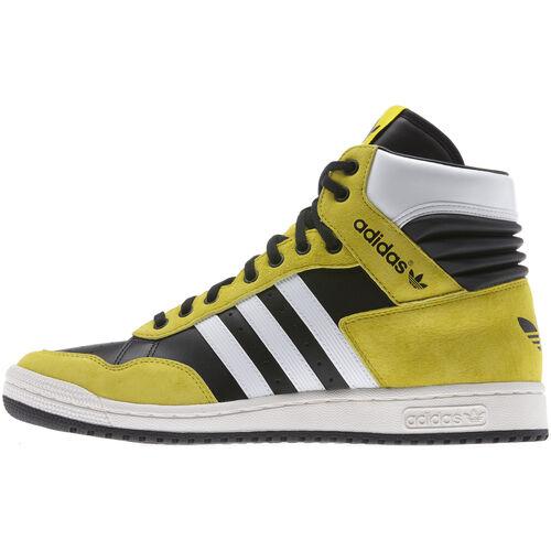 adidas - Men's Pro Conference Hi Shoes Black / Running White / Vivid Yellow G95984