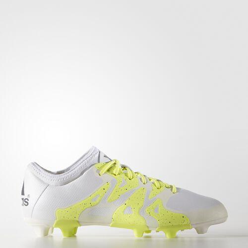 adidas - Women's X 15.2 Firm/Artificial Ground Cleats White / Night Met. / Frozen Yellow B23686