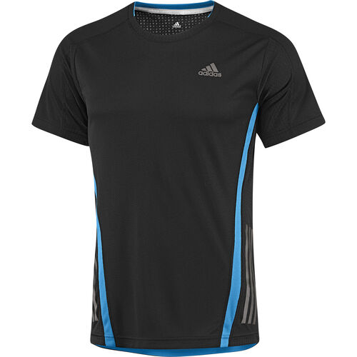 adidas - Hommes Supernova Short Sleeve Tee Black / Solar Blue F82518
