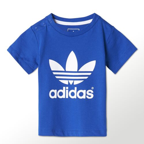 adidas - Bebes Trefoil Tee Power Blue / White M63338