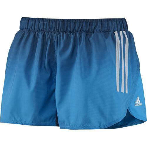 adidas - Femmes adizero Split Shorts Solar Blue / Tribe Blue D79910