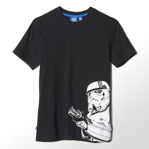 adidas - Enfants Star Wars Stormtrooper Tee Black / White S14437