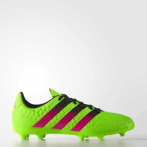 adidas - Kids ACE 16.3 Firm Ground Boots Solar Green/Shock Pink/Core Black AF5154