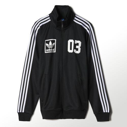 adidas - Hommes 3-Stripes Trefoil Track Jacket Black M30330