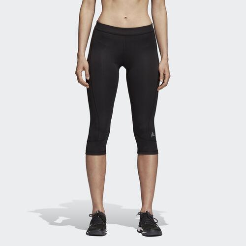 adidas - Women's Techfit Capris Black/Matte Silver AJ2256