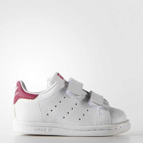 adidas - Infants Stan Smith Shoes White/Bold Pink B32704