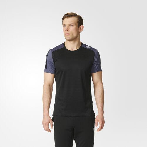 adidas - Men's Response Tee Black/Utility Blue AX6508