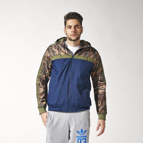 adidas - Hommes Marathon 83 City Camo Windbreaker Olive Cargo / Collegiate Navy S18754