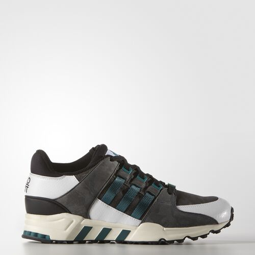 adidas - Men's Equipment Running Support 93 Shoes Core Black / Emerald / Chalk White B24780