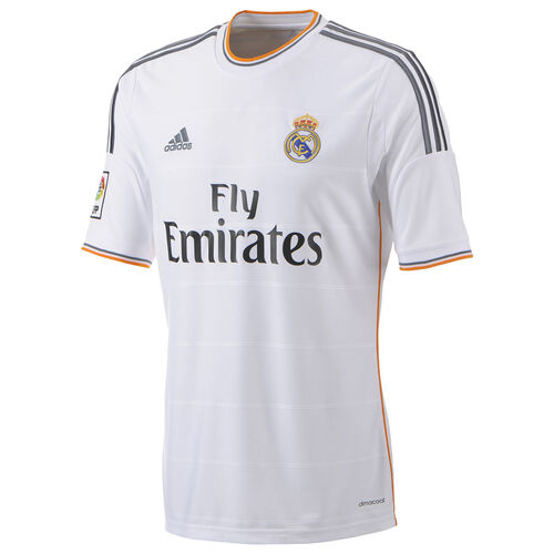 adidas - Men's Real Madrid Home Jersey White / Lead / Light Orange Z29356