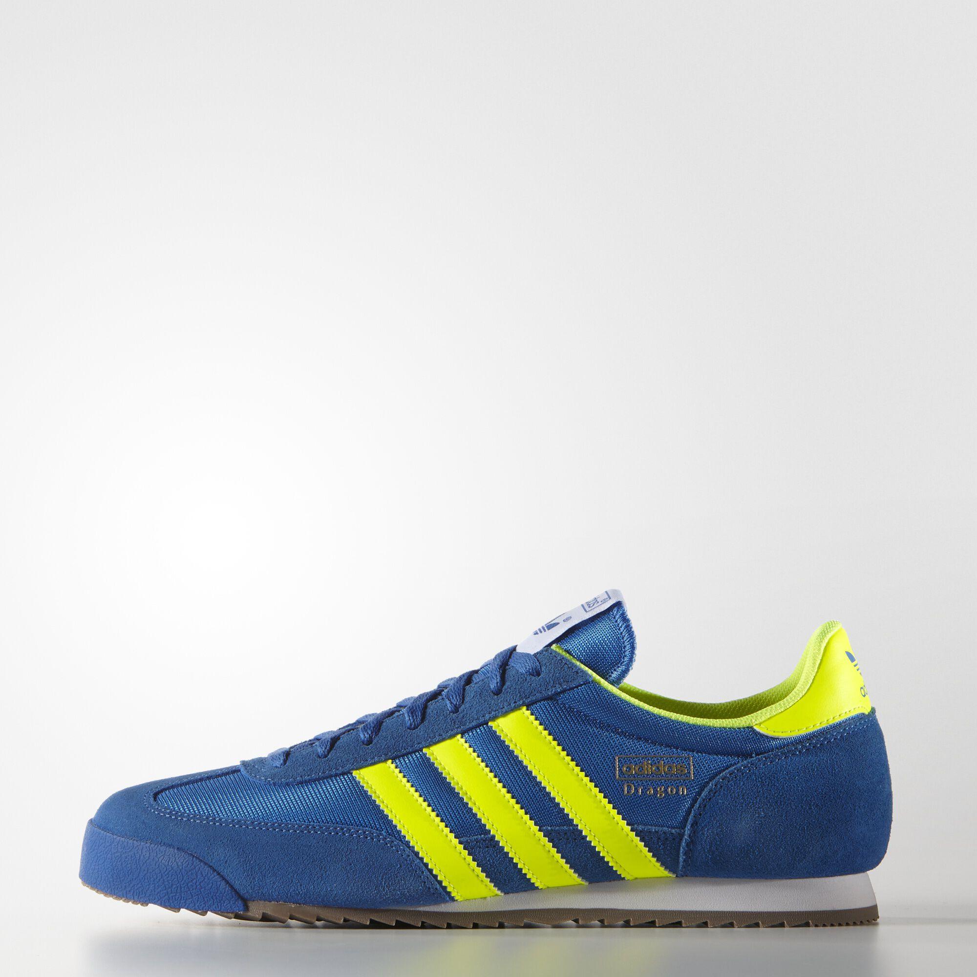 adidas dragon azules y amarillas