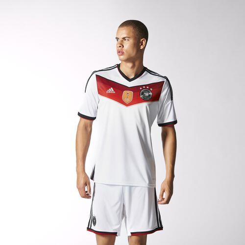 adidas - Men's Germany Winner's Replica Player Jersey White/Black/Victory Red/Matte Silver M35022